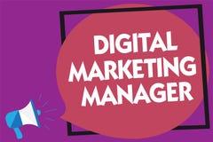 Signe des textes montrant le directeur marketing de Digital Photo conceptuelle optimisée pour signaler dans les conseils ou le lo illustration de vecteur