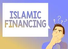 Signe des textes montrant le financement islamique Activité et investissement conceptuels d'opérations bancaires de photo qui est illustration de vecteur