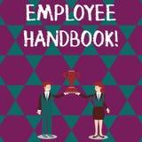 Signe des textes montrant le guide des employ?s La photo conceptuelle énonce les règles et les règlements et les politiques d'un  illustration libre de droits