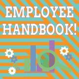 Signe des textes montrant le guide des employ?s La photo conceptuelle énonce les règles et les règlements et les politiques d'une illustration libre de droits