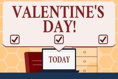 Signe des textes montrant le jour de Valentine S Les vacances roanalysistic de photo conceptuelle ont célébré tous les ans le 14  illustration libre de droits