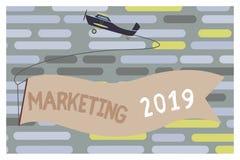 Signe des textes montrant le marketing 2019 Le message publicitaire conceptuel de photo tend pour l'événement promotionnel de la  illustration de vecteur