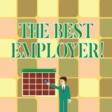 Signe des textes montrant le meilleur employeur La photo conceptuelle a créé la sensation d'apparence de lieu de travail a entend illustration de vecteur