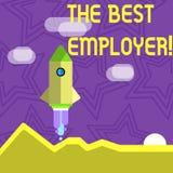 Signe des textes montrant le meilleur employeur La photo conceptuelle a créé la sensation d'apparence de lieu de travail a entend illustration stock