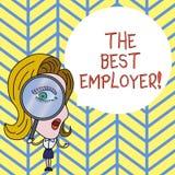 Signe des textes montrant le meilleur employeur La photo conceptuelle a créé la sensation d'apparence de lieu de travail entendue illustration libre de droits