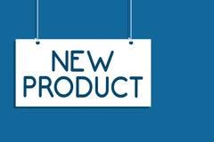 Signe des textes montrant le produit nouveau Les biens conceptuels et les services de photo qui diffèrent dans leurs caractéristi illustration stock