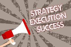 Signe des textes montrant le succès d'exécution de stratégie Photo conceptuelle mettant le plan ou la liste et le début la faisan illustration de vecteur