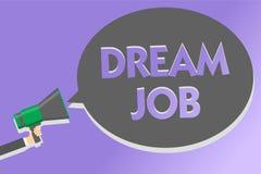 Signe des textes montrant le travail rêveur Photo conceptuelle un acte qui est payé par du salaire et de te donner le haut-parleu illustration libre de droits