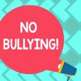 Signe des textes ne montrant aucune intimidation Blanc d'assaut d'agression de harcèlement d'abus interdit par photo conceptuelle illustration stock