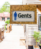 Signe des toilettes publiques Photo stock