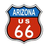 Signe des USA 66 d'artère de l'Arizona Photographie stock