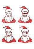 Signe diacritique de Noël de Santa Claus Cartoon Character Showing Merry écrit dans l'espace vide Illustration de vecteur illustration stock