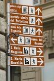 Signe directionnel Photographie stock libre de droits