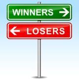 Signe directionnel de gagnants et de perdants illustration de vecteur