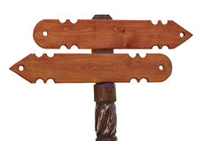Signe directionnel en bois Photographie stock libre de droits
