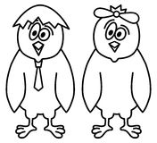 Signe drôle de poulets Images stock