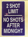 Signe drôle de barre - limite de 2 tirs Photographie stock