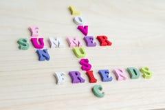 Signe drôle de jeu de mots croisé de lettres Images stock