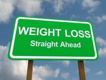 Signe droit devant de perte de poids Images stock