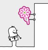 Signe du consommateur et de système - fleurs Image stock