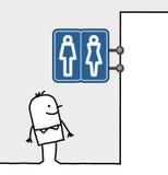 Signe du consommateur et de système - toilettes Images stock