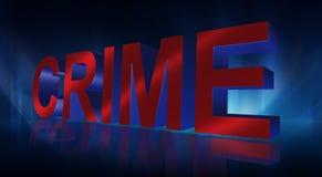 signe du crime 3D Image libre de droits
