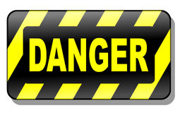 signe du danger 3d Photo stock