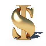 Signe du dollar Image libre de droits