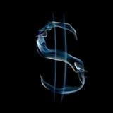 signe du dollar d'alphabet fumeux Photos stock