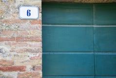 Signe du numéro de maison 6 image libre de droits
