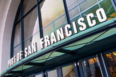 Signe du port de San Francisco photographie stock