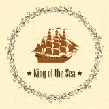 Signe du roi de la mer illustration libre de droits