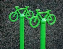 Signe du stationnement de bicyclette Photo libre de droits