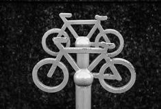 Signe du stationnement de bicyclette Photographie stock