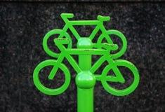 Signe du stationnement de bicyclette Images libres de droits