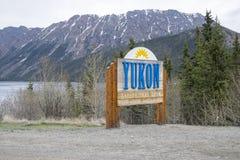 Signe #1 du Yukon Images libres de droits