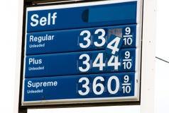 Signe en baisse de prix du gaz Image stock