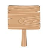 Signe en bois. Images libres de droits