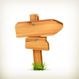 Signe en bois Image stock