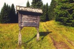 Signe en bois photo stock