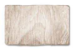 Signe en bois blanc pour vos grandes conceptions Image libre de droits