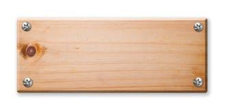 Signe en bois d'isolement, Photographie stock libre de droits