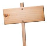 Signe en bois d'isolement, Photographie stock