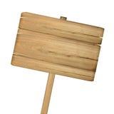 Signe en bois d'isolement sur le blanc photos stock