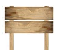 Signe en bois d'isolement sur le blanc Vieux signe en bois de planches image stock