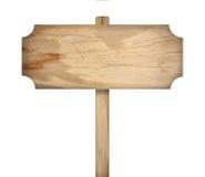 Signe en bois d'isolement sur le fond blanc images stock