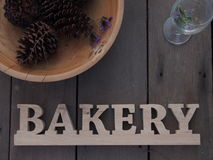 Signe en bois de boulangerie Image libre de droits