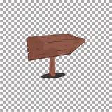 Signe en bois de flèche Type de dessin animé illustration de vecteur