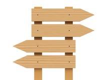 Signe en bois de flèches Photographie stock libre de droits