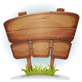 Signe en bois de pays de ressort Images stock